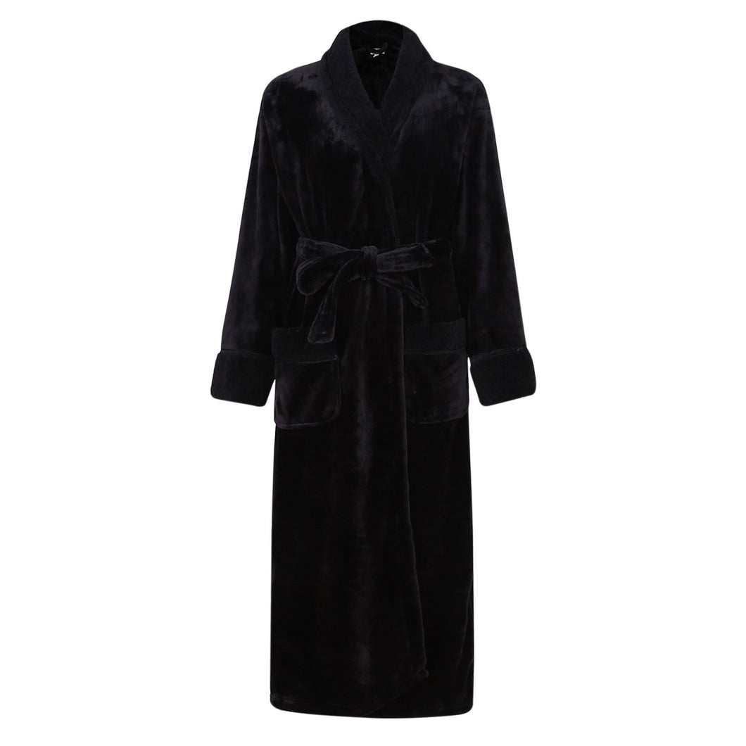 Soft Warm Fleece Bathrobe Robe