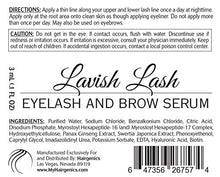 Load image into Gallery viewer, Hairgenics Lavish Lash – Eyelash Growth Enhancer & Brow Serum for Long, Luscious Lashes and Eyebrows