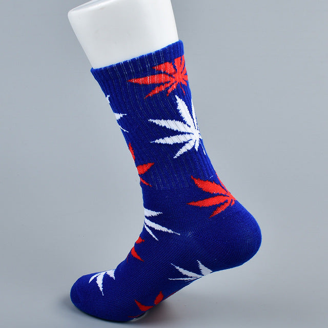 doxnation:Calcetines originales naturales🍁(Premium Quality),Long blue white