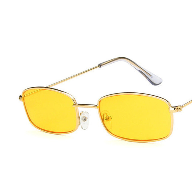 doxnation:Gafas Rectangulares Retro (Edicion BadBunny)🐰,gold yellow