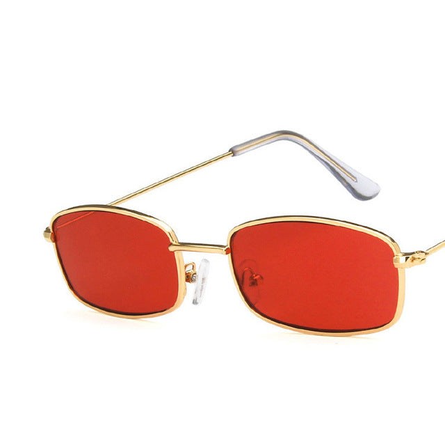 doxnation:Gafas Rectangulares Retro (Edicion BadBunny)🐰,gold red