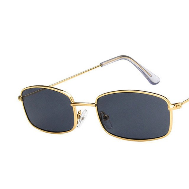 doxnation:Gafas Rectangulares Retro (Edicion BadBunny)🐰,gold gray