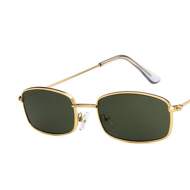 doxnation:Gafas Rectangulares Retro (Edicion BadBunny)🐰,gold green