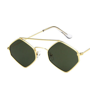 doxnation:Gafas Hexagonales de Poliuterano🔷,c3gold green