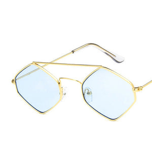 doxnation:Gafas Hexagonales de Poliuterano🔷,c6gold blue