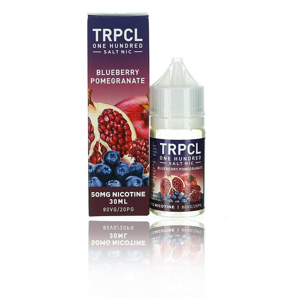 TRPCL ONE HUNDRED Salts Blueberry Pomegranate 30ml Nic Salt Vape Juice