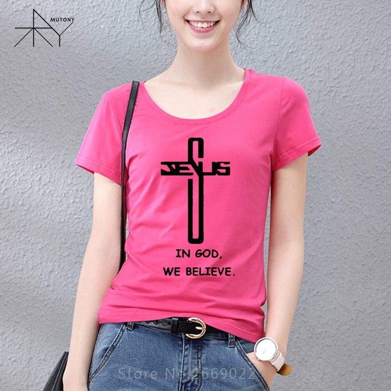 New Style In God We Trust believe T-shirt