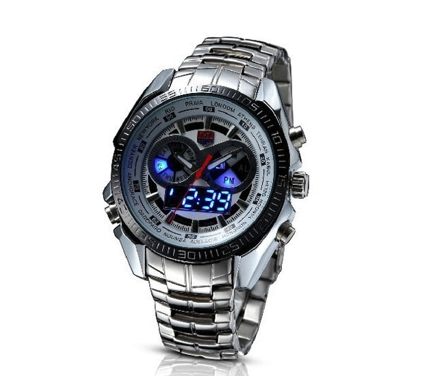 TVG Stainless Steel Fashion Black Digital Watch