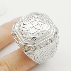 Retro Religious Cross Rings Stainless Steel Mens Ring