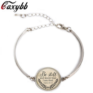 Faith Amazing grace Silver chain bracelet