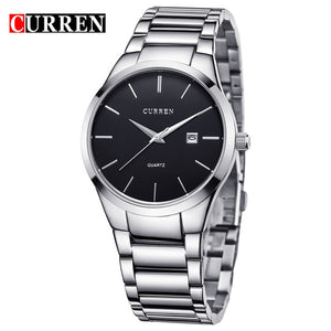 Curren Men full Black steel quartz Watch