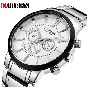 Curren Men's stainless steel Military Wristwatch