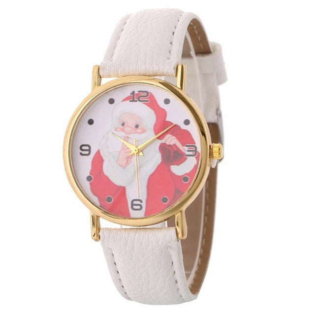Women Santa Claus Pattern Quartz Watch