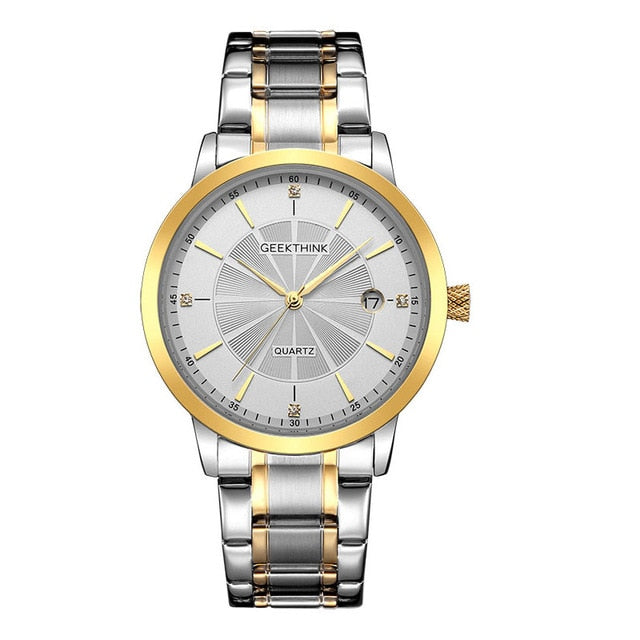 GEEKTHINK Brand full stainless steel quartz Watches