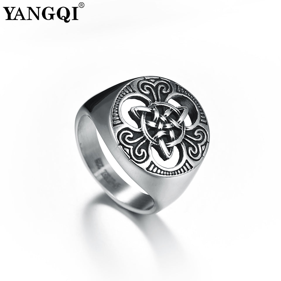 Stainless Steel Christian Trinity Knot Ring
