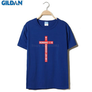 Splicing Tee Tops Shirt I Am Not Ashamed Gospel Christian T Shirt