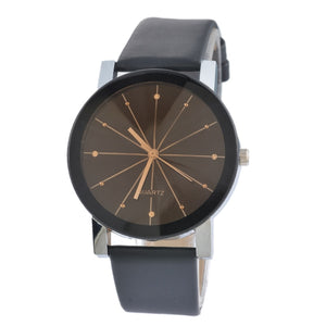 Doreen Box Black Battery Included PU Quartz Wrist Watches