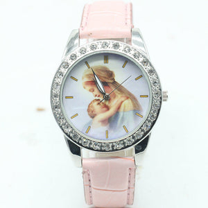 God Christ Cross Blessed Virgin Mary Watch