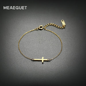 Meaeguet Cross Stainless Steel Chain Bracelet