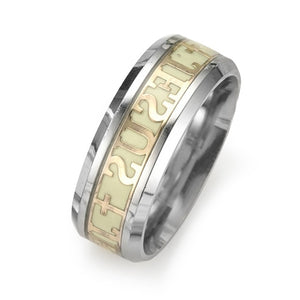 Luminous Jesus Christ Ring Stainless Steel