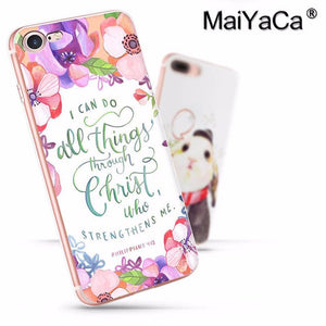 Bible verse Philippians Jesus Christ Christian Luxury High-end phone Case