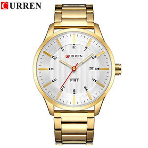 Royal Blue Gold Men Business Quartz Watches