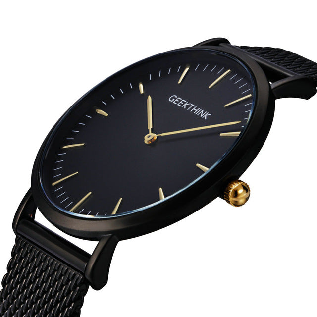 GEEKTHINK Top Luxury Brand Quartz watch