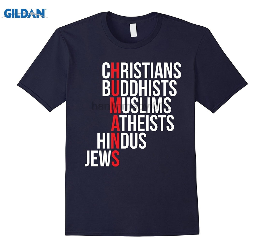 Christians Buddhists Muslims Atheists Hindus Jews T Shirt