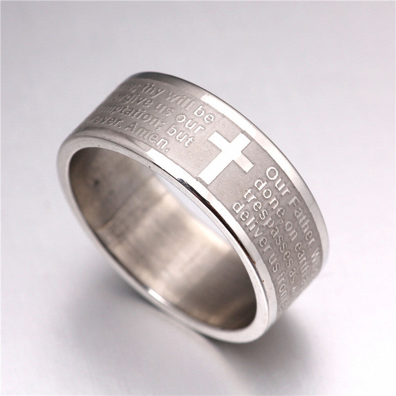 Lord's Prayer Stainless Steel Band