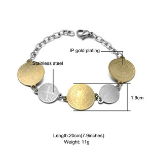 D&Z Gold  Stainless Steel Bracelet
