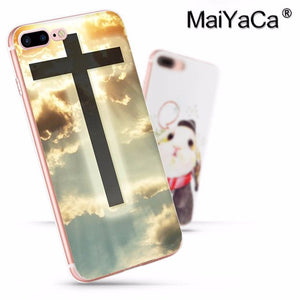 Christian Jesus The Cross Luxury Fashion Phone Case for iPhone