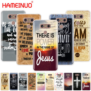 Christian Jesus Bible Verse case phone cover for LG