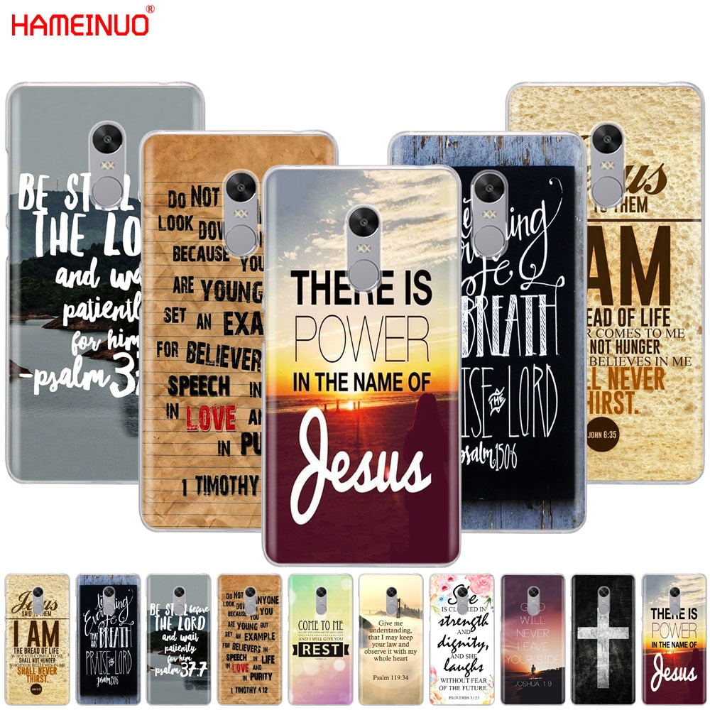 Christian Jesus Bible Verse Cover phone