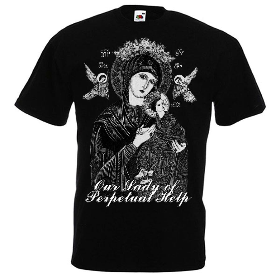 Our Lady of Perpetual Help Virgin Mary Christian Catholic T Shirt