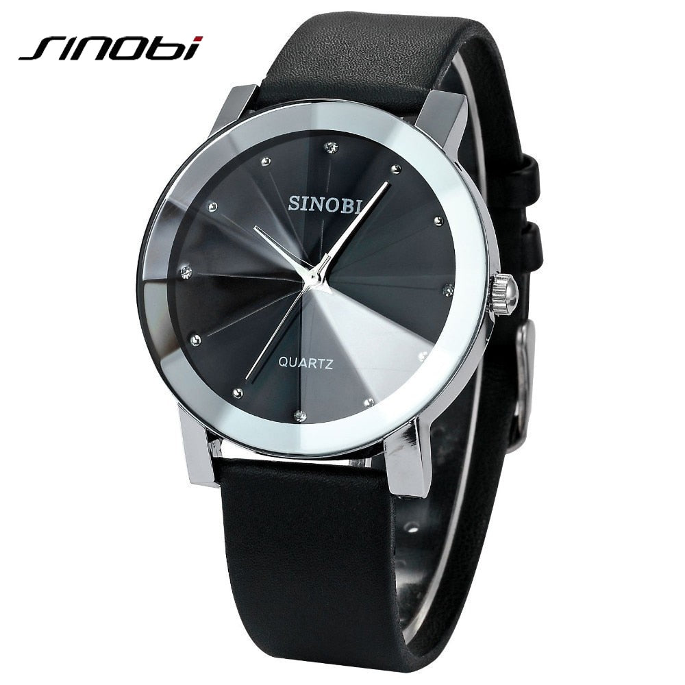 SINOBI Diamond Male Elegant female Lady Wrist Watches
