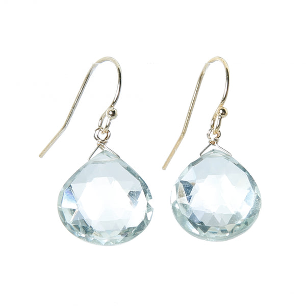 Earring green amethyst