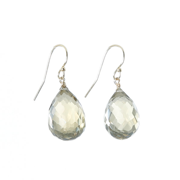 Earring lemon quartz