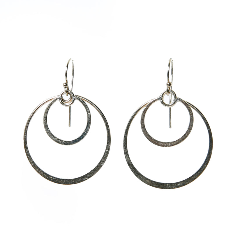 Earring with 2 round components