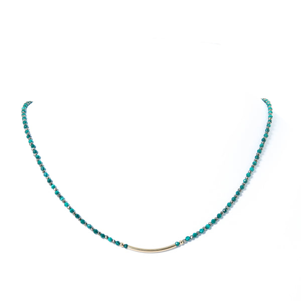 Necklace with tube