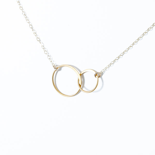 Necklace with two circles