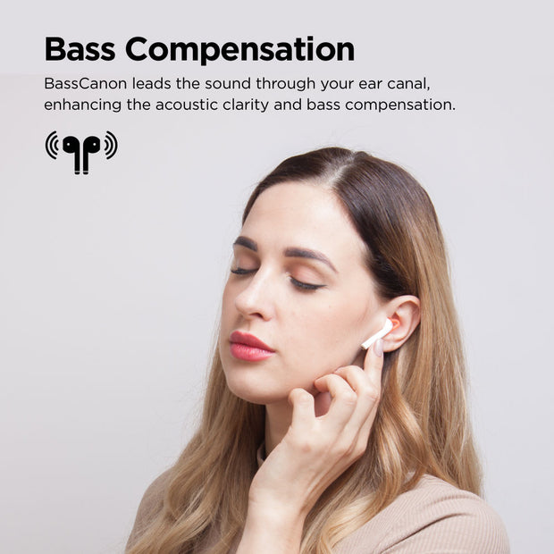 BassCanon Passive Noise Canceling Cover for AirPods & EarPods