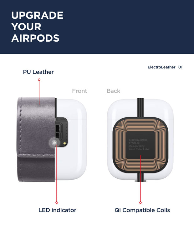 ElectroLeather AirPods Wireless Charging Protective Case