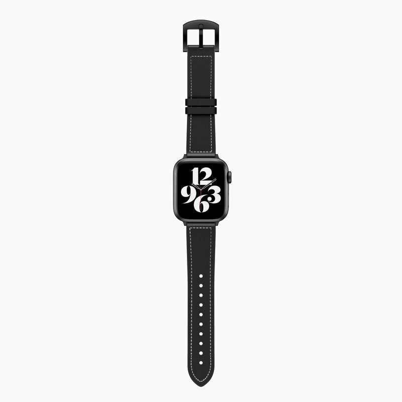 Black Leather Sport Band