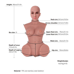 Sex Doll Torsos 80cm Head#9 Tan