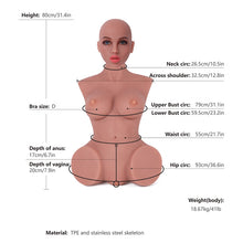 Load image into Gallery viewer, Sex Doll Torsos 80cm Head#3 Tan
