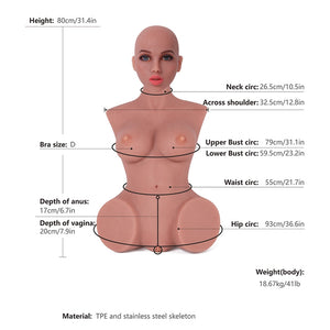 Sex Doll Torsos 80cm Head#3 Tan