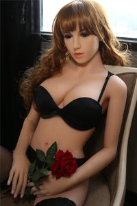 169CM Black Bra Good Swimming Girl Christal Curvy Figure Silicone Doll