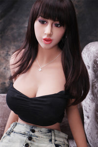 165CM Huge Chesty Curvy Figure Girl Janice Silicone Doll For Male Toy