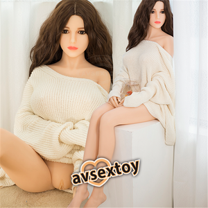 158CM Natrual Skin Curvy Figure Beauty Caroline Silicone Doll For Male Toy