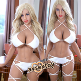 161CM White Angel Genevieve Metai Skeleton Silicone Doll
